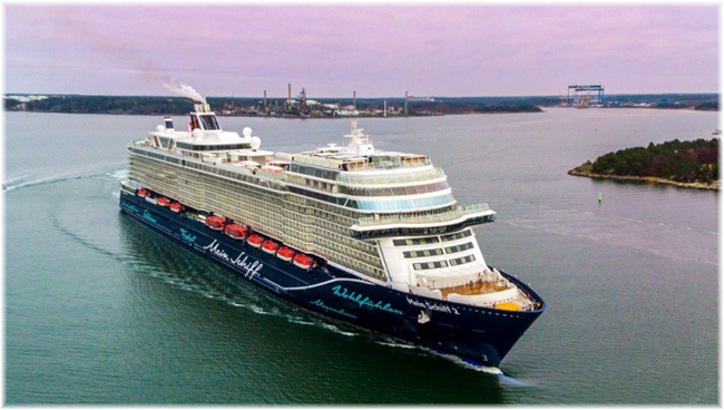 Mein Schiff 2 out of Turku, Finland