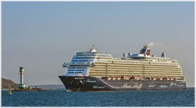 Mein Schiff 1 at Kiel (Photo Stephen Gergs)