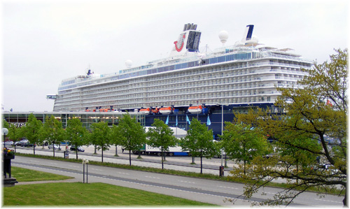 Mein Schiff 4 at cruise terminal Ostseekai, Port of Kiel