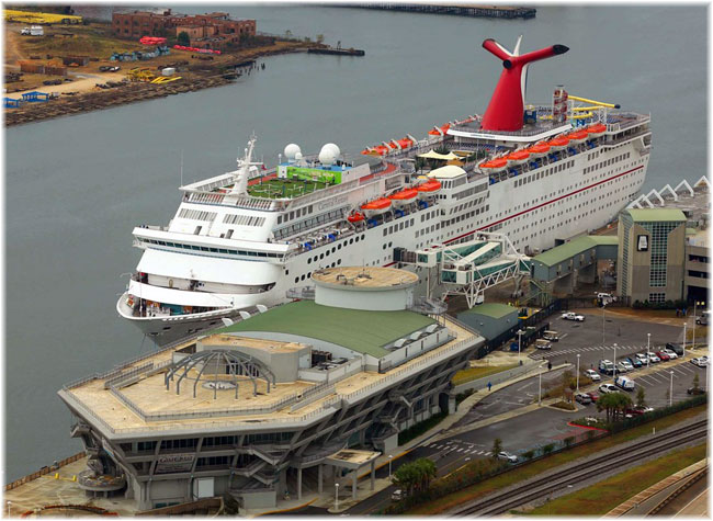 Carnival Fantasy in this image at Mobile