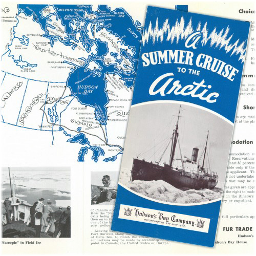 SS Nascopie: summer cruise brochure, 1932 (Click to enlarge)