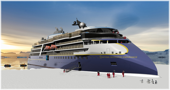 National Geographic Endurance (Artist impression courtesy Ulstein Group - Lindblad Expeditions) (Click to enlarge)