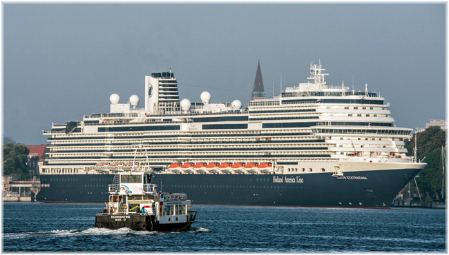 Holland America Line's Nieuw Statendam at Kiel, May 2019 (Courtesy Port of Kiel)