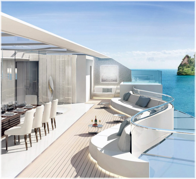 m.y. Njord - Outside deck spaces (Artist impression courtesy Ocean Residences and Brodosplit