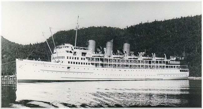s.s. North Star at Gros Morne, 1938