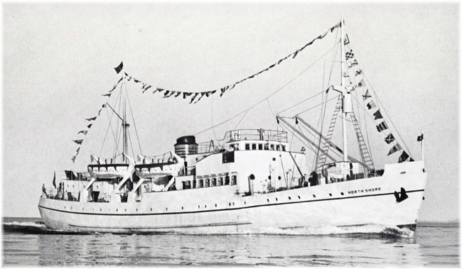 Clarke Steamhip's North Shore started cruising from West Palm Beach to Nassau and Havana in January 1947