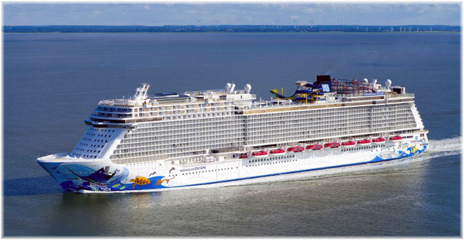 The Norwegian Escape (Courtesy Meyer Werft) (Click to enlarge)