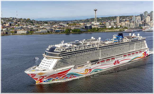 Norwegian Joy departs Seattle, May 2019 (Courtesy Norwegian Cruise Line)