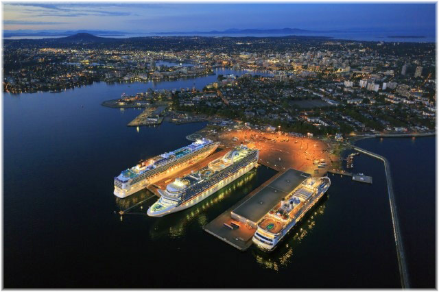 The Ogden Point cruise ship terminal (Courtesy Greater Victoria Harbour Authority)