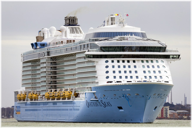 Ovation of The Seas (Courtesy Royal Caribbean International)