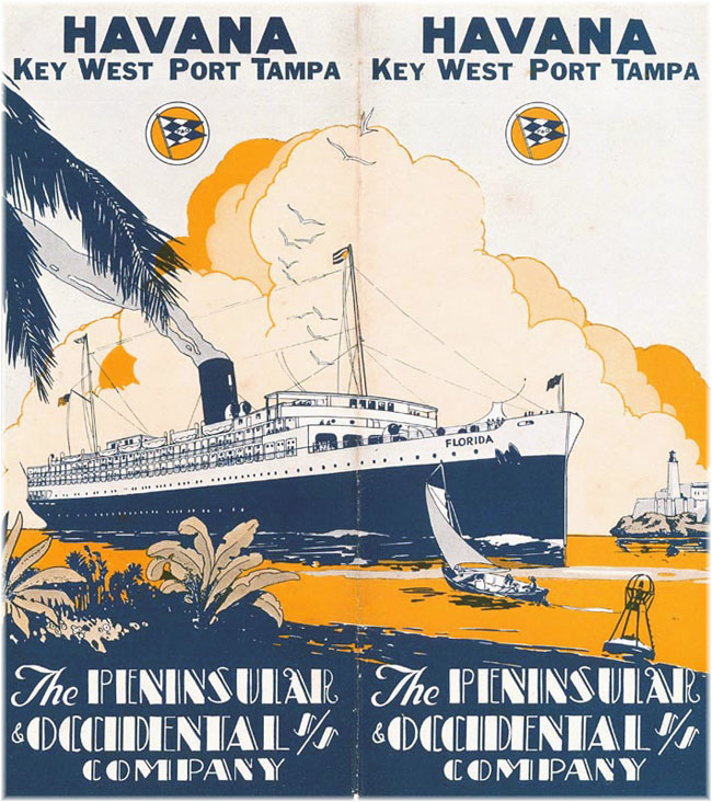 P&O Steamship 1930s brochure - s.s. Florida