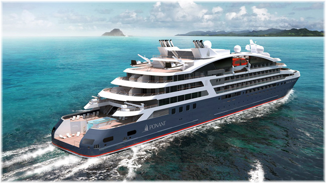 The Ponant new ships (Artist impression by Stirling Design International)