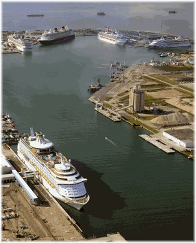 Port Canaveral (Aereal view, courtesy Canaveral Port Authority)