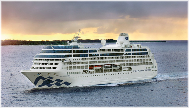 The Pacific Princess in her new colours (Photo courtesy Princess Cruises)