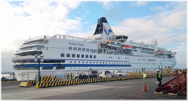 The Pacific Venus at Manila (Photo Courtesy Philippine News Agency)