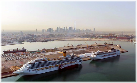 The Dubai Cruise Terminal is located at Port Rashid