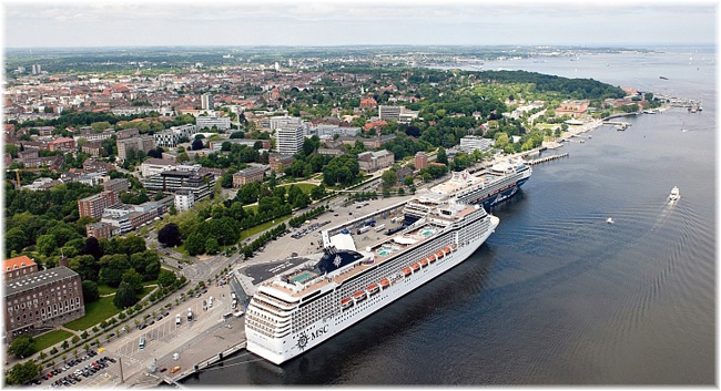 Ostseekai Cruise Terminal at the Port of Kiel