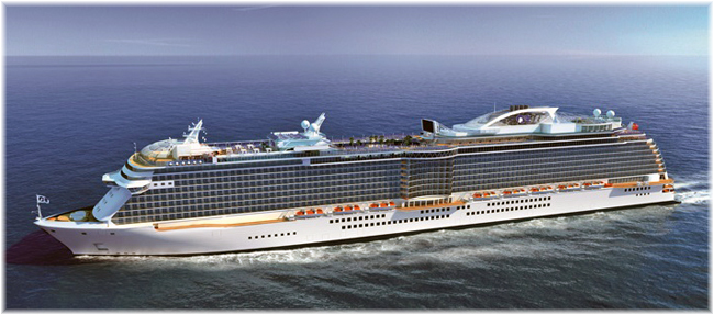 The 143,700-ton, 3,560-passenger ships for Princess Cruises will be the brand's fourth and fifth Royal-class vessels (Artist impression courtesy Princess Cruises)