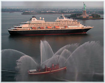 The Prinsendam in New York (Photo credit Andy Newman/Holland America Line)