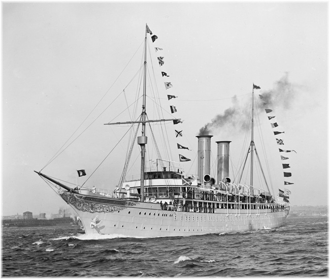 The world's first purpose-built cruise ship, Hapapg's Prinzessin Victoria Luise 1900