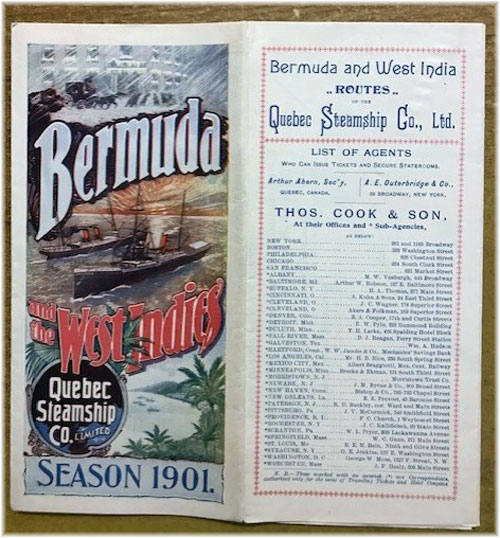 Bermuda and West India Routes - Quebec Steamship Co.