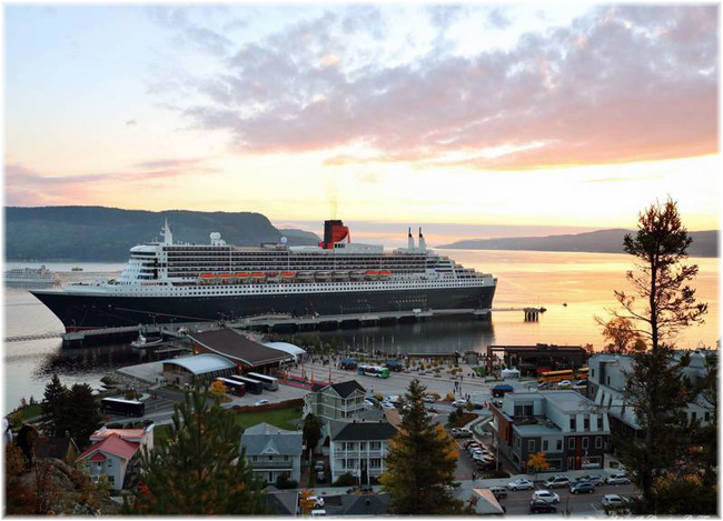 Queen Mary 2 at Port of Saguenay