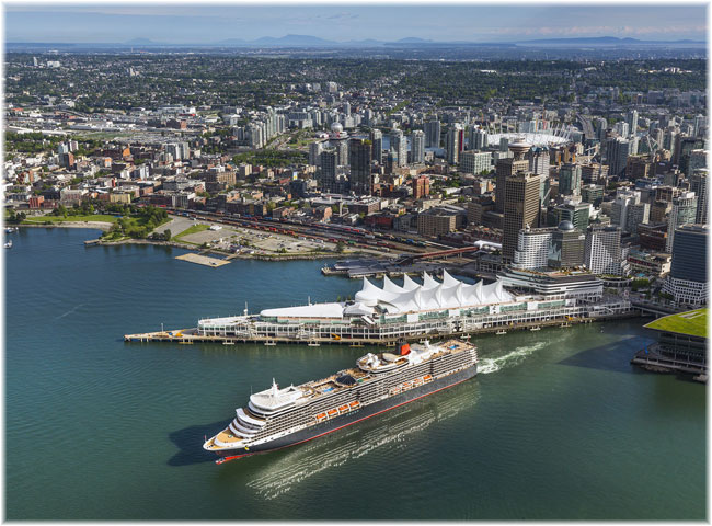Queen Elizabeth's maiden visit to Vancouver, BC. - May 21, 2019 (Photo by William Jans for Cunard)