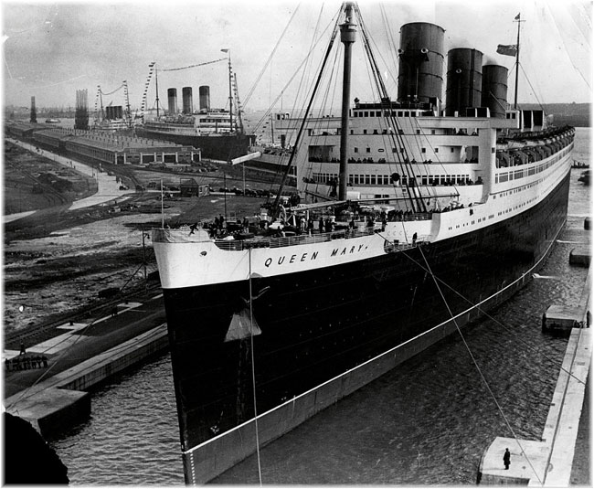 The Queen Mary in Southampton
