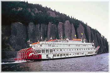 Queen of The West. The new ships would be modern, have no paddlewheels and let lots of light in.