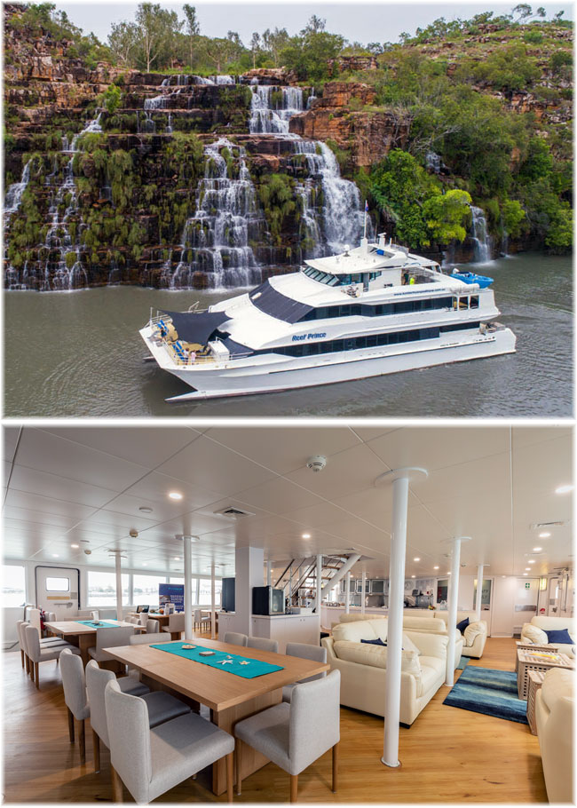 The stylish catamaran Reef Prince (Kimberley Cruise Specialists)