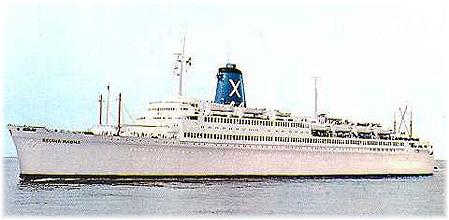 Chandris Cruises' 32,360-ton Regina Magna