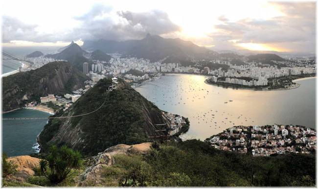Rio de Janeiro seen from the peak of Pão de Açúcar (Photo credit Pierpaola Milanesi - August 2018)
