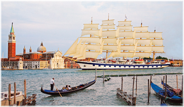 The Royal Clipper in Venice