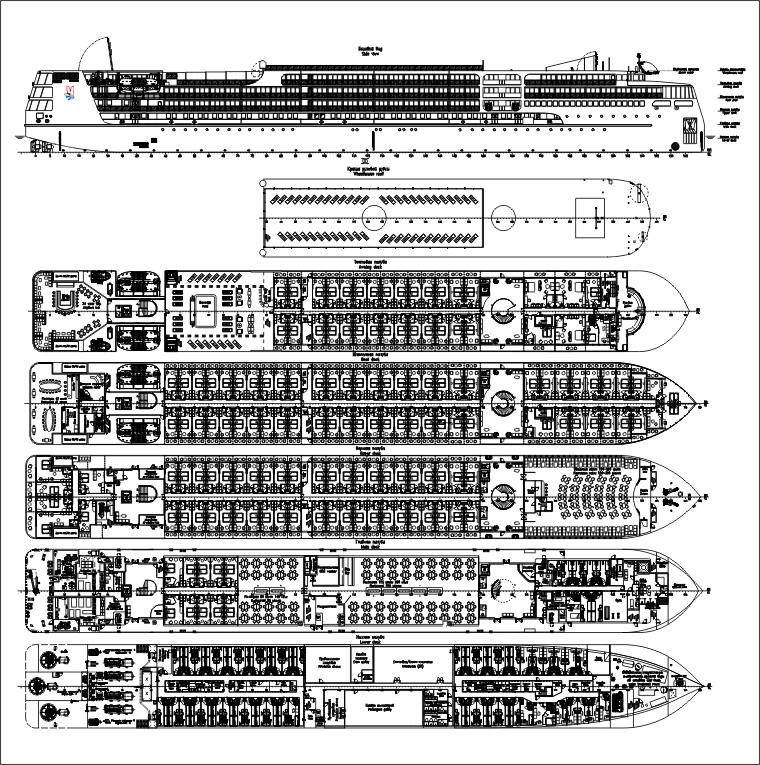 Plans of the new class of Russian river boats