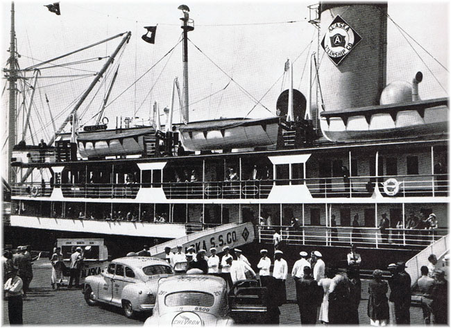 S.S. Alaska at Seattle in 1952