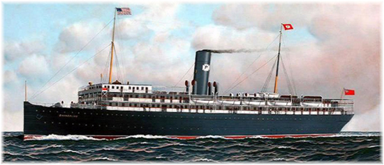 The s.s. Evangeline offered regular cruises from Key West in 1913 and Jacksonville in 1914 to Panama and the West Indies