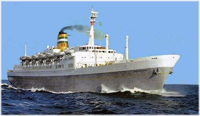 S.S. Statendam was the first cruise ship to be equipped with a lido restaurant