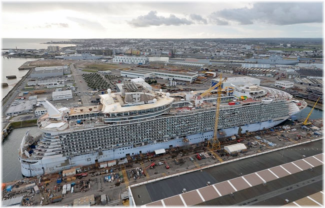 Harmony of The Seas under construction at STX France