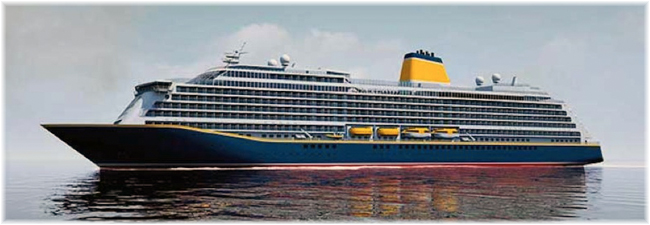 The new Saga's cruise vessel (Artist impression, courtesy Saga - Feb. 2017)