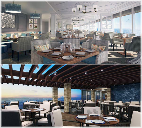 The new Saga's cruise vessel. The Verandah and Outside Dining (Artist impression, courtesy Saga)