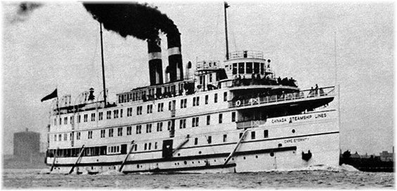 Cape Eternity introduced the first dedicated weekly cruise service from Montreal to the Saguenay. (Click to enlarge)