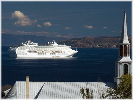 Princess Cruises' ship in Saguenay