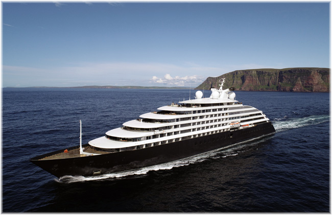 The 16,500-ton, 228-berth ocean-going cruise ship Scenic Eclipse (Courtesy Scenic Cruises)