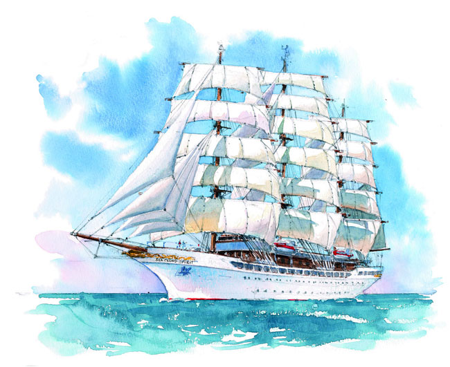 The Sea Cloud Spirit will take up her role as a typical square-rigged tall ship