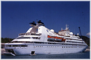 The 212-berth all-suite Seabourn Pride introduced in 1988
