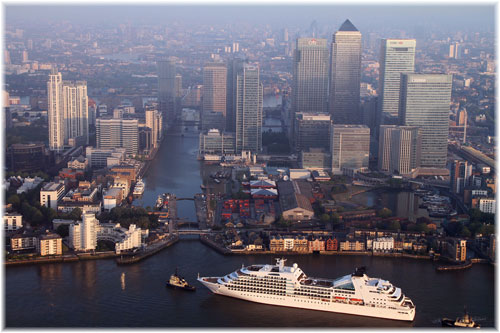 Seabourn's ship in London