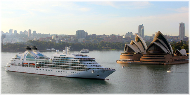 The Seabourn Sojourn  at Sydney