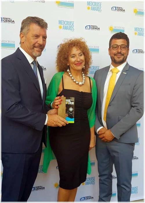Sergio Senesi (Cemar Agency Network) and MedCruise President Airam Díaz Pastor