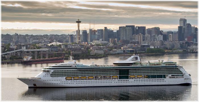 Serenade of the Seas at Seattle (Courtesy Royal Caribbean International)