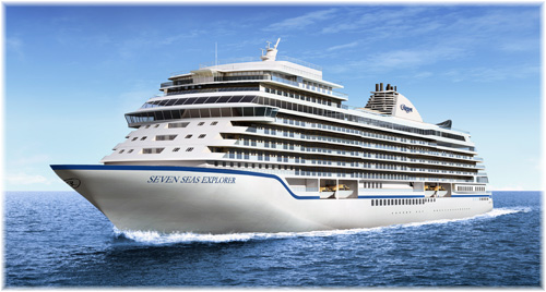 The Seven Seas Explorer (Rendering courtesy of Regent Seven Seas Cruises)